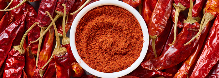 hot paprika powder from Hungarian country